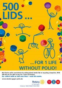 "Social action ""Lids against polio"""