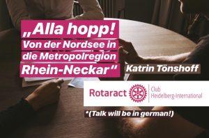 """Talk """"Alla hopp! Von der Nordsee im die Metropolregion Rhein-Neckar"""""""